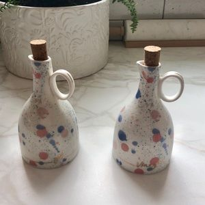 EUC Anthropologie Oil and Vinegar Set